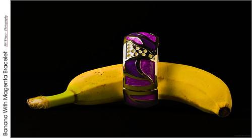 Banana With Magenta Bracelet