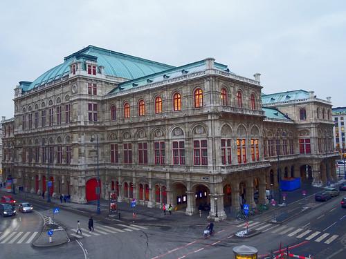 Wien, 1. Bezirk, Wiener Staatsoper, Ópera Estatal de Viena, L'opéra d'État de Vienne, Vienna State Opera, Opera Wiedeńska (Philharmonikerstraße/Operngasse/Albertinaplatz/Opernring)