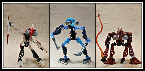 2019: Lego Bionicle Barraki triptych