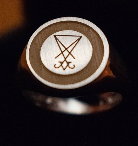 Satanic Jewelry - Ring of Lucifer - Ring of Satan, the Prince of Darkness - The Morning Star