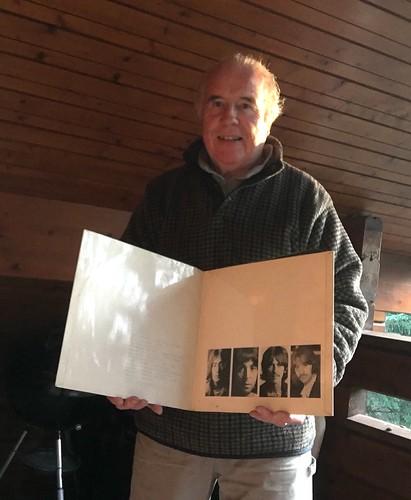 Pat Rooney holds the The Beatles White Album, Cavan 22 November 2018