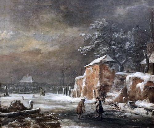 IMG_5623A Jacob van Ruisdael. 1628-1682. Paysage d'hiver Winter Landscape. Hamburg Kunsthalle.