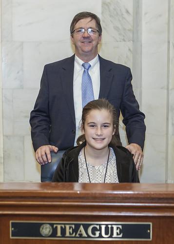 1-29-19  Katie Ella Webster with Senator Larry Teague