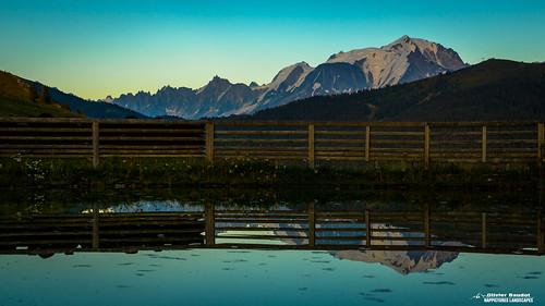 France, Savoie, le Mont Blanc vu du col des Aravis