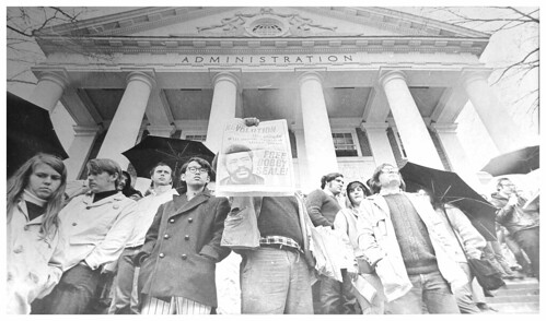 Students protest arrests of the 'Skinner 87' – 1970
