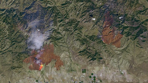 Detailed Satellite Imagery of the Idaho Wildfires