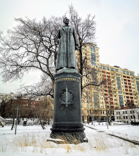 Estatua del bolchevique y estadista soviético, Felix Edmundovich Dzerzhinsky en Muzeon Park - Diseñada por el escultor soviético Yevgeny Vuchetich (1958)