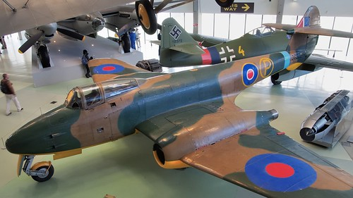Gloster Meteor first prototype DG202/G, 1942 - RAF Museum, Hendon, London.