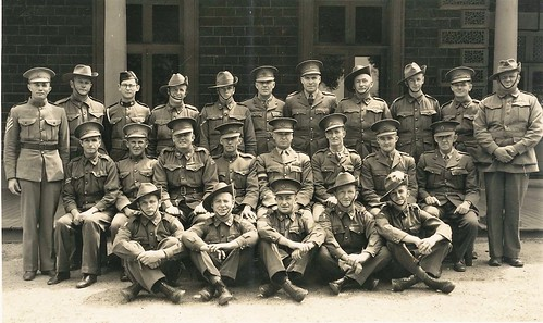 Group of Australian servicemen - possibly members of the Volunteer Defence Corps - circa 1940