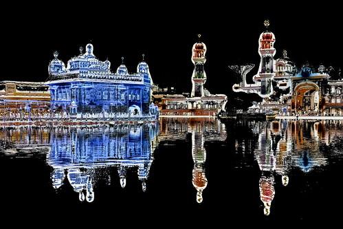 India - Punjab - Amritsar - Golden Temple - Night View - 149dd
