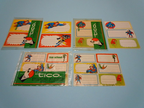 1980 Super Heroes Sticking Labels - Tico School