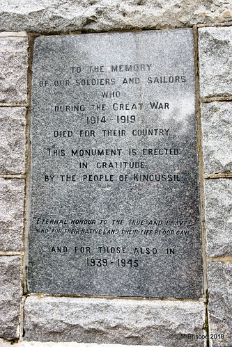Kingussie War Memorial.