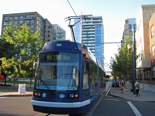 Northbound Streetcar at Jamison Square