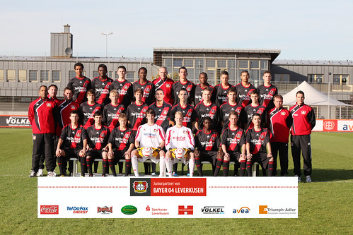 Bayer 04 U17 - mit Sponsoren