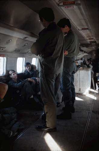 Inside the Air Greenland Douglas Dc-6 enroute Sondrestrom Airport August 28th 1976.
