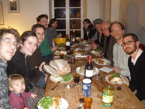 with Blaise Mercier, Christopher Adler, Michael Winter, Tom Johnson, Samuel Vriezen and Brian Parks. La Métive, Moutier d'Ahun - January, 2011.