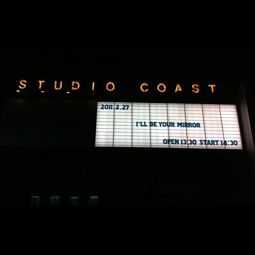 I'll Be Your Mirror @ studio coast