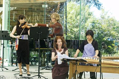 Miki Tsunodo, violin and Satsuki Odamura, koto
