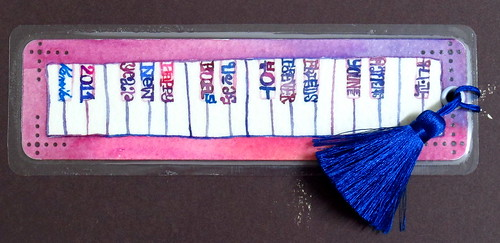 1-1-11 New Year Bookmark to my Dear Pianist Friend (Younee) (4x10cm.)