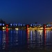 Light show on the River Kwae Railway bridge