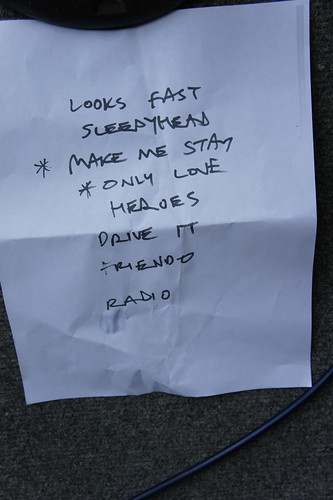 Sally Crewe and the Sudden Moves Set List