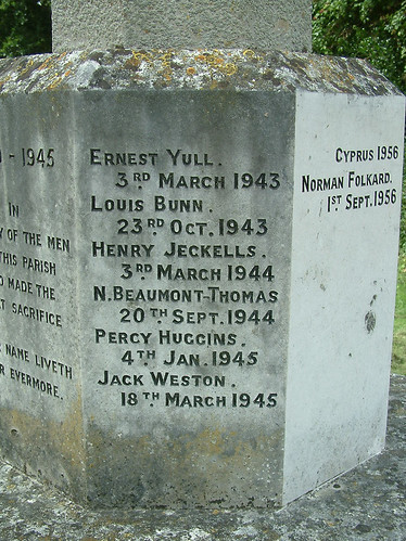 Hethersett War Memorial - 1943 to 1945