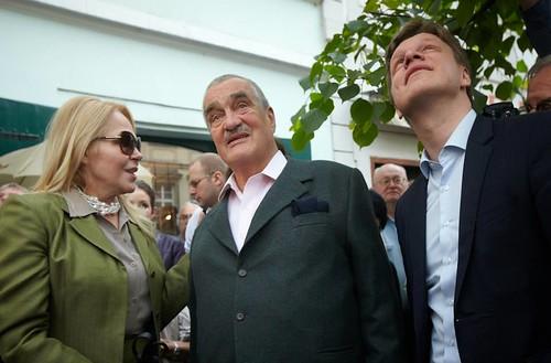Dagmar Havlová, Karel Schwarzenberg a Tomáš Hudeček.
