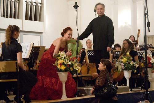 Liubov Belotserkovskaya after the concert