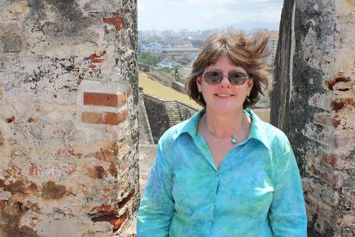 Hollie Ketman at Fort in Old San Juan.