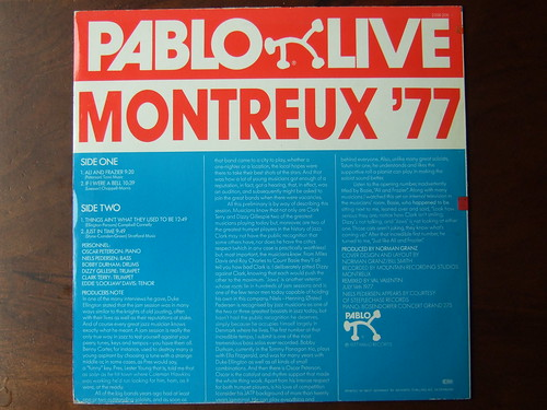 Backside Oscar Peterson Jam - Montreux '77, Dizzy Gillespie, Clark Terry, Eddie 'Lockjaw' Davis, Niels Pedersen, Bobby Durham - Pablo Live