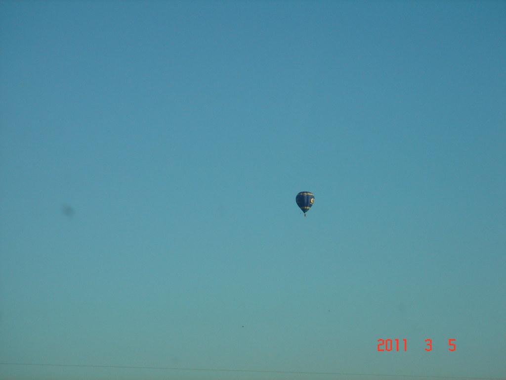 A liberdade do balão de ar quente