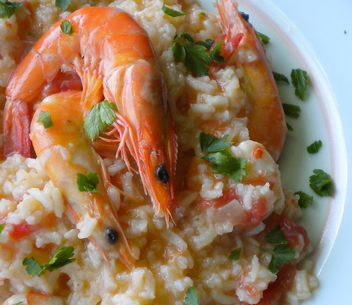 arroz camarão