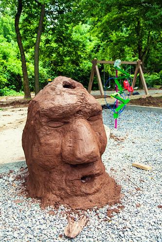 Peabrain sculpture