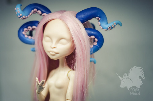 Deep water blue Tentacles for OOAK dolls Monster or Ever After High