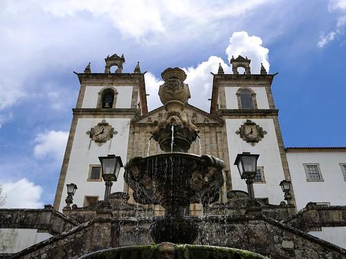 Medieval fountain in front of Santa Maria da Feira church