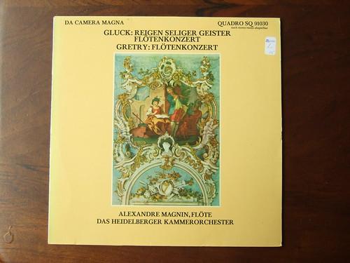 Gretry & Gluck - Flotenkonzert Flute Concerto, Gluck - Reigen seliger Geister ( Orpheus et Euridice) - Alexandre Magnin Flote Flute, Heidelberger Kammerorch., Da Camera Magna SQ 91030 QUADRO