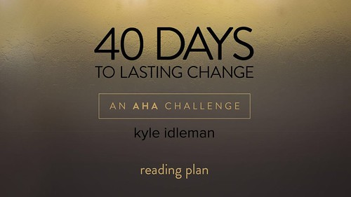 I just finished day 4 of the @YouVersion plan '40 Days To Lasting Change By Kyle Idleman'. Check it out here: