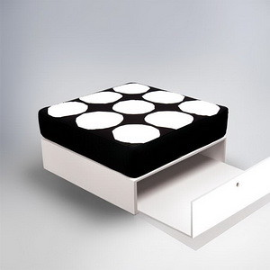 ducduc  cube box  Painted  F3 Fabric  ducduc  cube box  Painted  F3 FabricKhakiblack