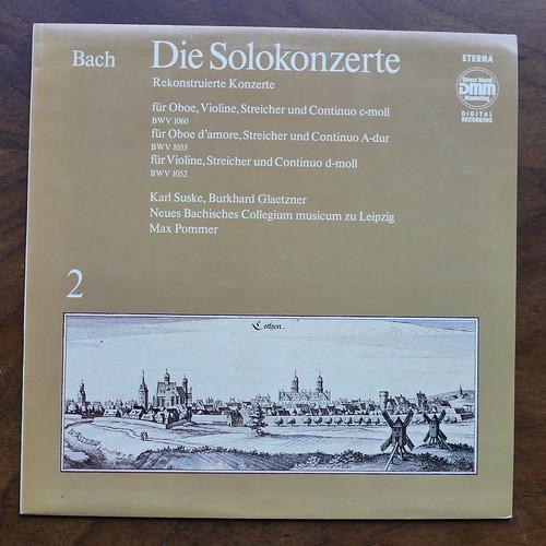 Bach - Die Solokonzerte Vol.2, Rekonstruiert, BWV 1060, BWV 1055, BWV 1052 - Karl Suske & Burkhard Glaetzner, Neues Bachisches Collegium Musicum Leipzig, Max Pommer, VEB Eterna 725 043, 1985, 1988, DMM Digital, Vol.2