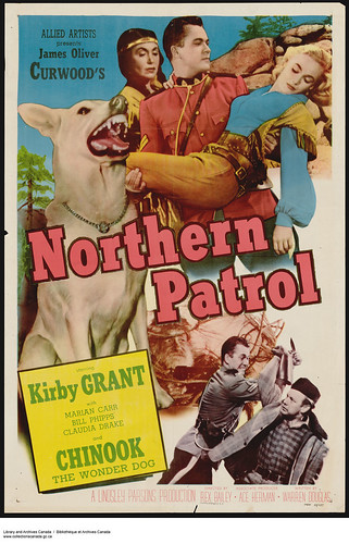 """A poster advertising the film """"Northern Patrol"""