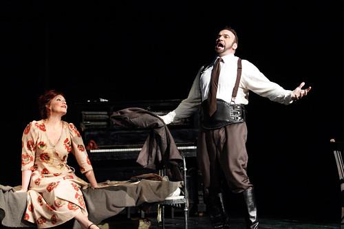 Karita Mattila as Marie and Endrik Wottrich as Drum Major in Wozzeck © ROH / Catherine Ashmore 2013