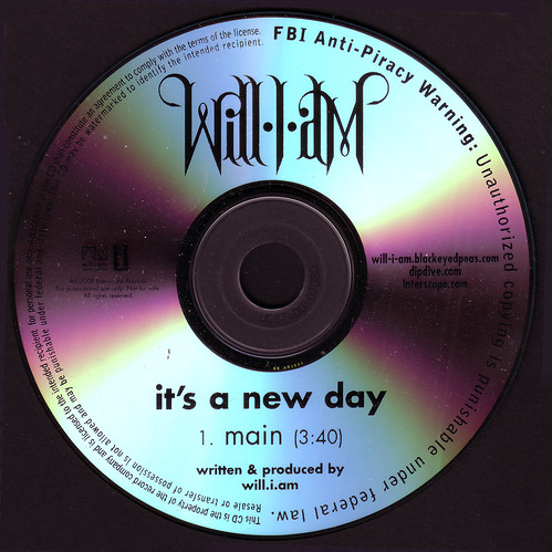 will.i.am / it's a new day (promo CD single)