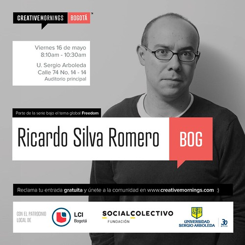 CreativeMornings/Bogotá with Ricardo Silva Romero