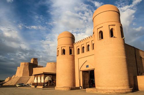 The city gates of Khiva, Uzbekistan
