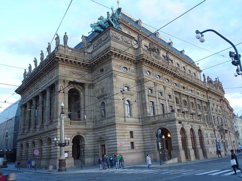 Praha, České republiky (the art of very historical buildings of Prague), Národní (Nationaltheater/Národní divadlo/National Theatre Prague)