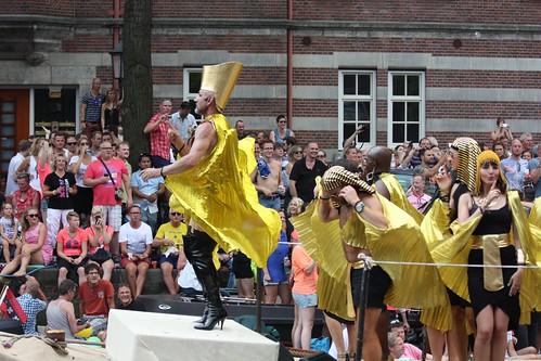 Pharaoh in Kazaky Heels at Amsterdam Gay Pride