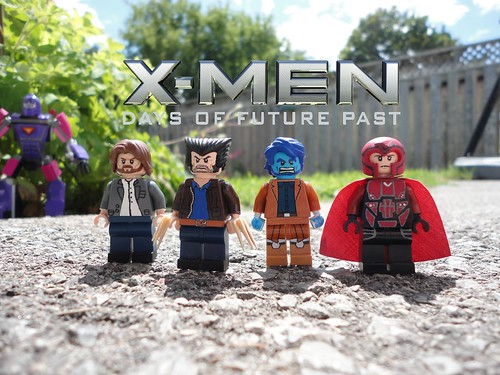 Lego X-Men Days of Future past - Wolverine, Beast, Magneto, Prof X (wave 1)