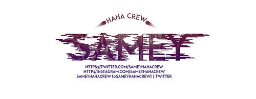 Samey HAHA Crew Facebook design