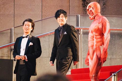 27th Tokyo International Film Festival: Kinoshita Tetsuya, Kaji Yuki & Titan from Attack on Titan the first part