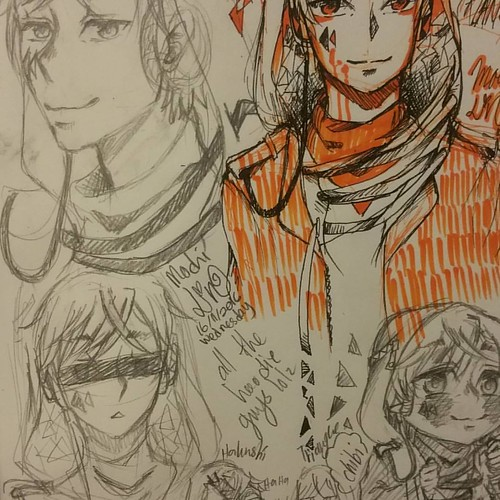 Triangle, same as Hakushi, hoodie guy lel idk if i want make him my permanent oc... while rot myself at McD, did (really) late-night sketch/doodle _(:3j deym i got back past 1 am lel #doodle #sketch #mochilinart #mochilin24 #art #animestyle #traditionalar